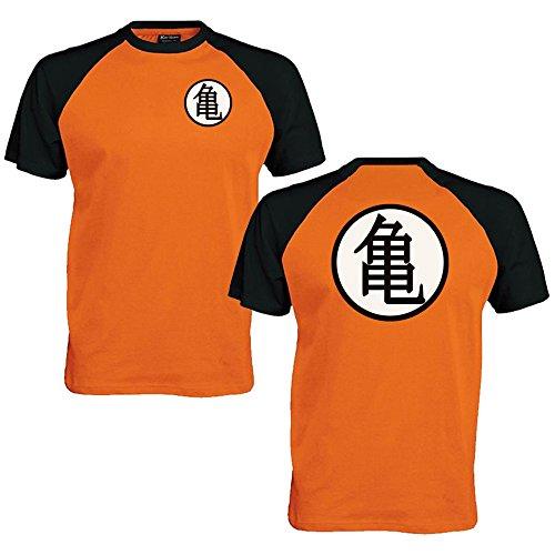 Goku Formazione simbolo Baseball t shirt, unisex, Orange, M