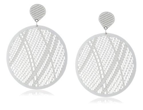 Stainless Steel Filagree Round Earrings