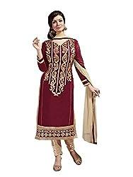 Subhash Sarees Daily Wear Brown Color Chanderi Silk Salwar Suit Dress Material