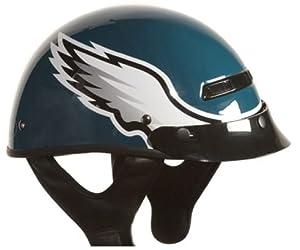 Brogies Bikewear NFL Philadelphia Eagles Motorcycle Half Helmet (Green, X-Small)