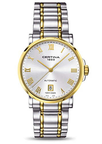 Certina Men's Watch XL Analogue Automatic C017,407,22,033,00 Stainless Steel