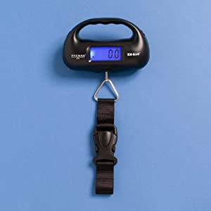 Xs - Bag - Digital Luggage Scale With Inbuilt Torch & Tape Measure - Weighs Up To 35 Kg