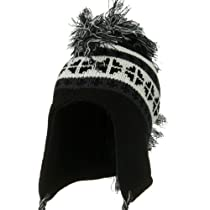 Snow Knit Mohawk Ski Hat - Black