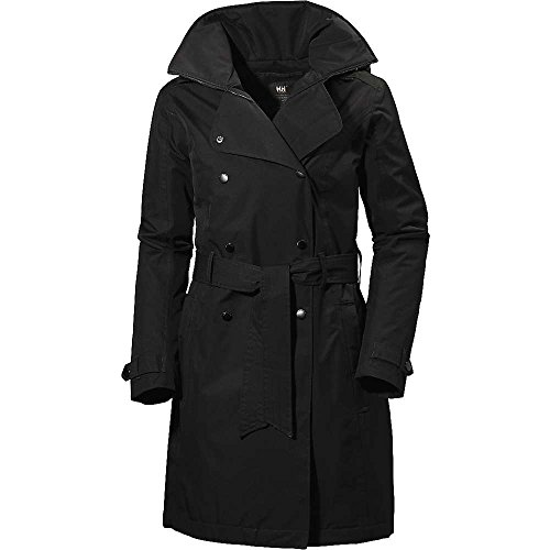 Helly Hansen Welsey Insulated Trench Coat - Women's Black Medium