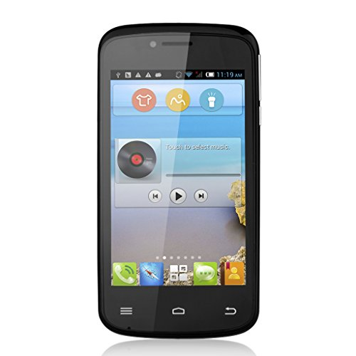 Schwarz Dual SIM Cubot GT95 4.0 Zoll 3G Smartphone Android 4.4 MTK6572 Dual Core Mobile Phone 4G ROM WIFI ohne Vertrag DE