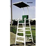 PVC Umpire Chair with Cushion (Color: White / Green)