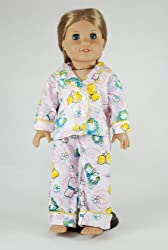 Butterfly Doll Pajamas for 18 Inch Dolls Including the American Girl Line