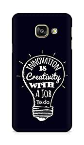 Amez Innovation is Creativity with a Job to do Back Cover For Samsung Galaxy A3 2016