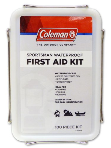 Coleman Sportsman Waterproof First Aid Kit 100-Piece, White