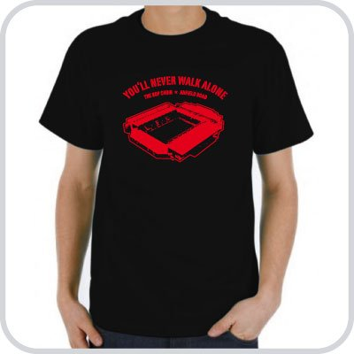 T-Shirt Anfield Road, Liverpool ::: Colour: black ::: Sizes: S-XL (football)