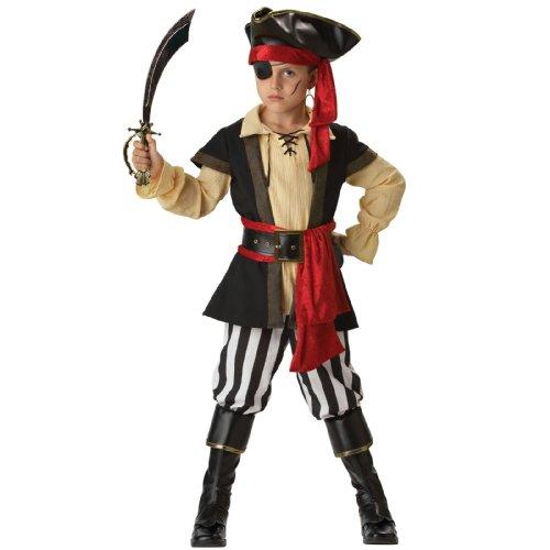 Incharacter Costumes, Llc Boys 8-20 Pirate Scoundrel Vest Set, Black/Red, Medium front-521543