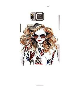 EPICCASE Supermodel with sunglasses Mobile Back Case Cover For Samsung Galaxy Alpha (Designer Case)