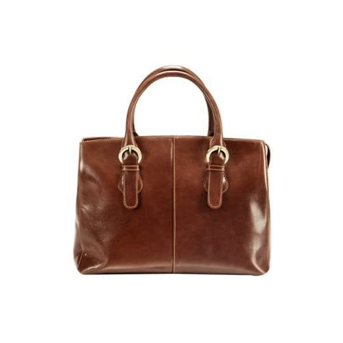 Visconti Adriana Vintage Tan Leather Grab Bag With Detachable Shoulder Strap VT15