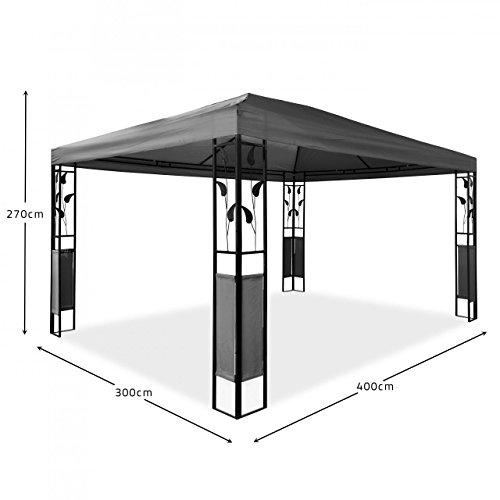 pavillon aus metall mit dach bestseller shop. Black Bedroom Furniture Sets. Home Design Ideas