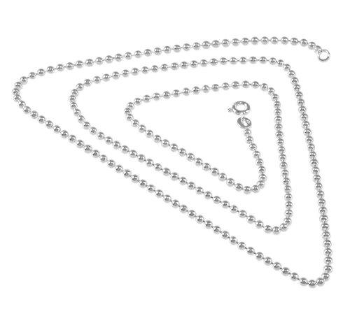VINANI Ballchain Charm-Anhänger Kette Silber 2,5mm 80cm BC2580