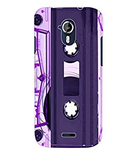 ColourCraft Retro Audio Cassette Design Back Case Cover for MICROMAX CANVAS MAGNUS A117