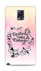 AMEZ creativity takes courage Back Cover For Samsung Galaxy Note 4