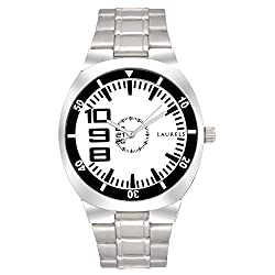 Laurels Original White Dial Analogue Watch for Men (Lo-Polo-201)