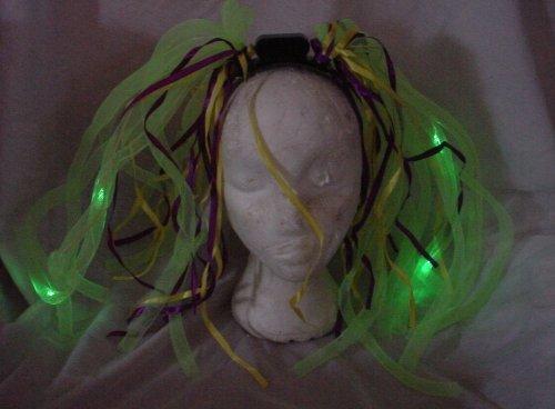 Toyland 72 X Green Noodle Light Up Headbands For Wholesale (Fl10)