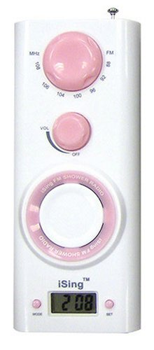 Zadro ISING FM Shower Radio, Pink