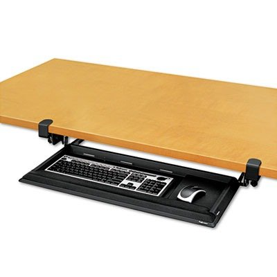 Clamp On Keyboard Tray/Shelf for Glass Computer Desks: Fellowes