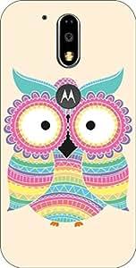 Go Hooked Designer Soft Back cover for MOTO G4 Plus + Free Mobile Stand (Assorted Design)