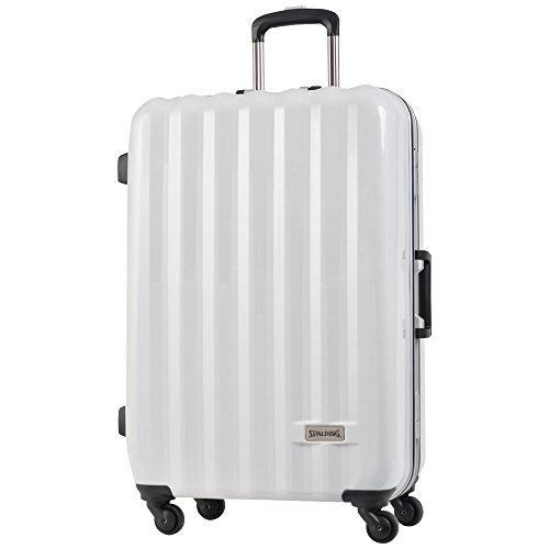 SPALDING スーツケース スポルディング TSAロック 50mmグリスパックキャスター ハードキャリーSP-0656-71A (ホワイトカーボン)