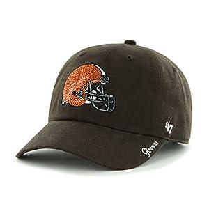 NFL Cleveland Browns Women's '47 Brand Sparkle Team Color Clean Up Adjustable Hat, Brown