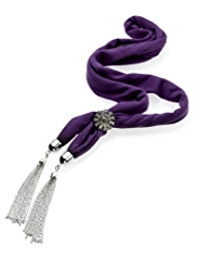 M&S Collection Tassel Scarf Y Necklace