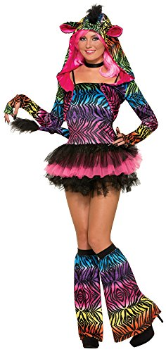 Forum Novelties Women's Party Animal Zingy Zebra Costume