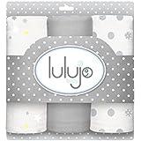 Lulujo Mini Muslin Cotton Cloths, Calming Grey, One Size
