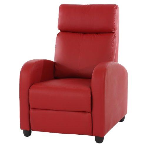 Fernsehsessel-Relaxsessel-Liege-Sessel-Denver-Kunstleder-rot