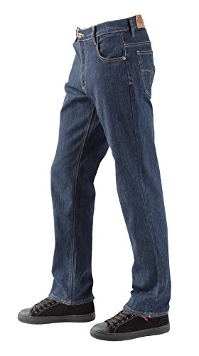 Lee Cooper, LCPNT218 PANT BLUE WASH W42 L30, x uomini Jean Denim stretch, blu