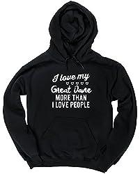 HippoWarehouse I love my Great Dane more than I love people unisex Hoodie hooded top