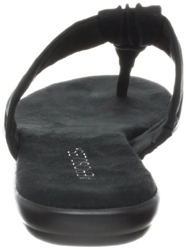 Aerosoles Women's Chlairvoyant Thong Sandal, Black Fabric, 8.5 M US