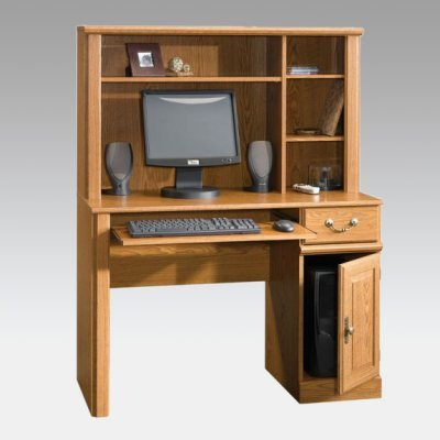 Buy Low Price Comfortable Sauder Orchard Hills Computer Desk and Hutch – 401353 (B0054TFIQI)