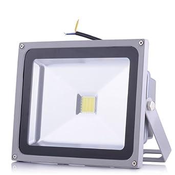 Ultradünn 50W SMD LED Fluter Flutlicht Außen Strahler Scheinwerfer Kaltweiß IP65