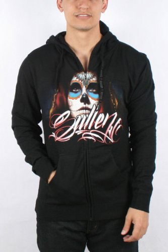 Sullen - Mens Acuna Badge Hoodie in Black, Size: Small, Color: Black