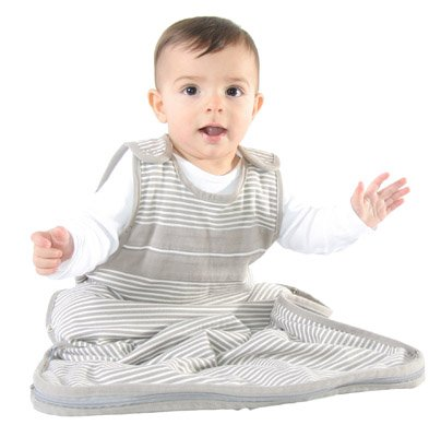 WOOLINO Ultimate Baby Sleep Sack, All Natural Merino Wool, One Size Fits Baby 3-24 Months, All Season Sleeping Bag, Cream