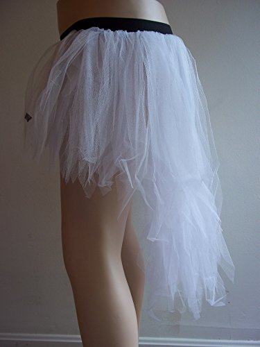 White 7 Layer Tutu Skirt Party Neon Dress Fancy Halloween Dance