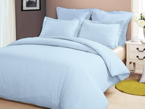 Congo Linen 450 Tc Italian Finish Egyptian Cotton Luxurious Sheet Set With Extra 2 Pillowcases 450 Tc Solid ( Cal-King , Sky Blue ) front-1057618