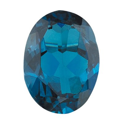 6.00 Cts of AAA 12x10 mm Oval Loose London Blue Topaz ( 1 pcs ) Gemstone