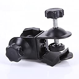 Foto4easy Heavy Duty Metal Dual Double U Clip Clamp for Photo Studio Boom Arm Light Stand