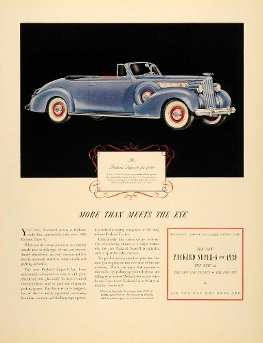 1939 Ad Packard Super 8 Convertible Car Detroit Drive - Original Print Ad (Weather Condit compare prices)