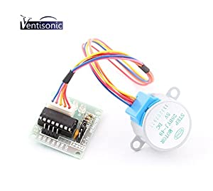 Ventisonic® 5V Stepper Motor 28BYJ-48 With Drive Test Module Board ULN2003 5 Line 4 Phase from VOMAXTECH INC.