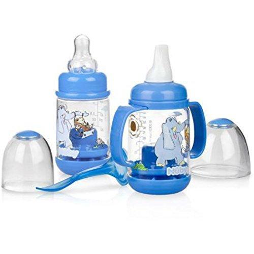 Nuby Infa-Feeder Set, Elephant, BPA-Free - 1