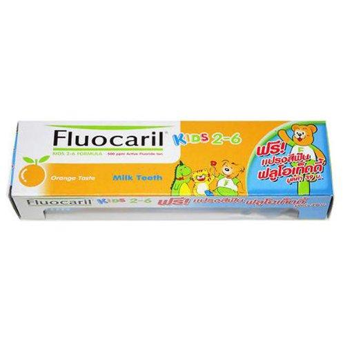Fluocaril Kids 2-6 Formula 500 Ppm Active Fluoride Ion 40 G Orange Taste Toothpaste