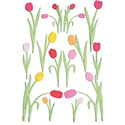 Pink & Orange Tulip Stickers
