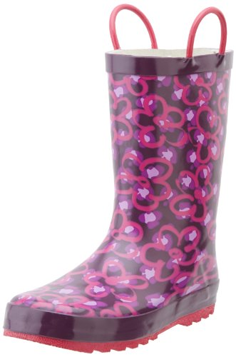 Western Chief Diva Leopard Rain Boot (Infant/Toddler/Little Kid),Purple,4 M Us Big Kid front-855239