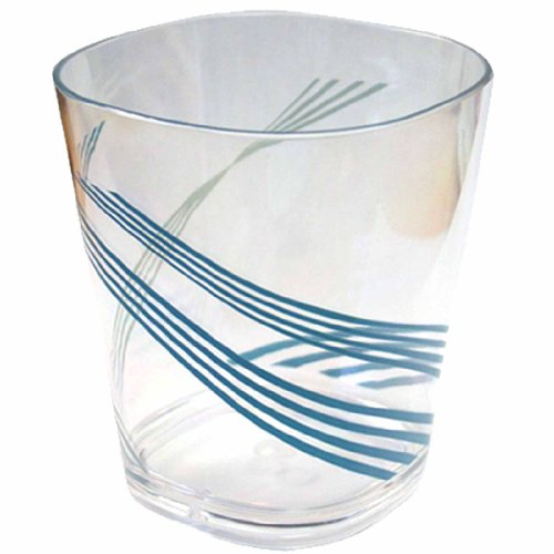 Corelle Coordinates Ocean Arc 14-Ounce Acrylic Square Glasses, Set of 6